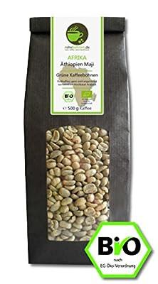 Organic green coffee beans - Arabica Ethiopia Maji from Rohebohnen