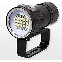 Sici Lampe sous Marine Lampe de Plongée, LED Lampe Torche Etanche, 80 Mètres Photographie Lampe Plongee sous-Marine