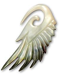 Fly Style® - 1 Stück - Perlmutt Expander Dehnungssichel - Engelsflügel