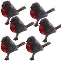 Anniversary House : Robin Cake Decorations (Set of 6)