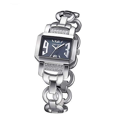 Time Force Reloj Analógico para Mujer de Cuarzo con Correa en Acero Inoxidable TF4037L01M