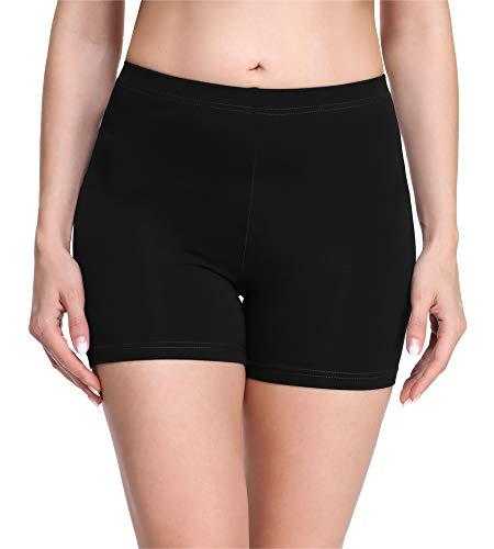 Merry Style Damen Shorts Radlerhose Unterhose Hotpants Kurze Hose Boxershorts aus Viskose MS10-283 (Schwarz(Shorts), L)