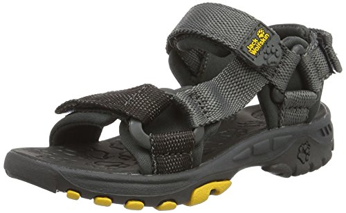Jack Wolfskin Unisex-Kinder Kids Seven Seas Outdoor Sandalen, Grau (Burly Yellow Xt), 33 EU