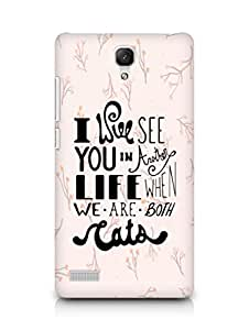 AMEZ i will see you in another life Back Cover For Xiaomi Redmi Note