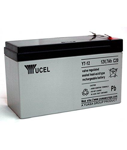 Batterie Yucel Y7-12 12V 7Ah. Dimensions (longueur x largeur x hauteur): (151mm x 65mm 94mm) Poids: 2,45Kg