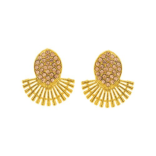 Voylla Gold Plated Stud Earrings for Women (8907617434728)