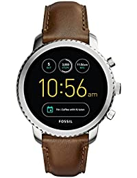 FOSSIL Gen 3 Smartwatch Q Explorist Brown Leather/Men's Smartwatch Compatible with Android and iOS - Activity Tracker, Smartphone Notifications, Water resistant