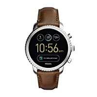 FOSSIL Gen 3 Smartwatch Q Explorist Brown Leather / Men's Smartwatch Compatible with Android and iOS - Activity Tracker, Smartphone Notifications, Water resistant