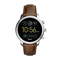 Fossil Gen 3 Smartwatch Q Explorist Brown Leather   Men's Smartwatch Compatible With Android & Ios - Activity Tracker, Smartphone Notifications, Water Resistant