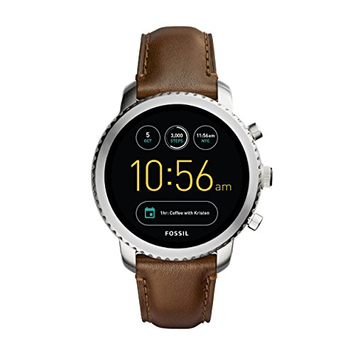 Fossil Explorist, montre intelligente - Bracelet en cuir marron