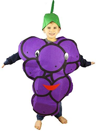 Petitebelle Halloween Weihnachten Obst Gemüse Unisex-Kostüm-Partei-Kleid-Kleidung Einheitsgröße Traube