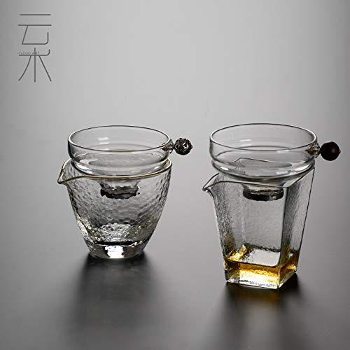 GBCJ Cloud-Technologie japanische kreative Glas Tee Leckage Tee Filter Kung Fu Tee-Set Edelstahl-Filter Bildschirm Messe Tasse Doppelschicht