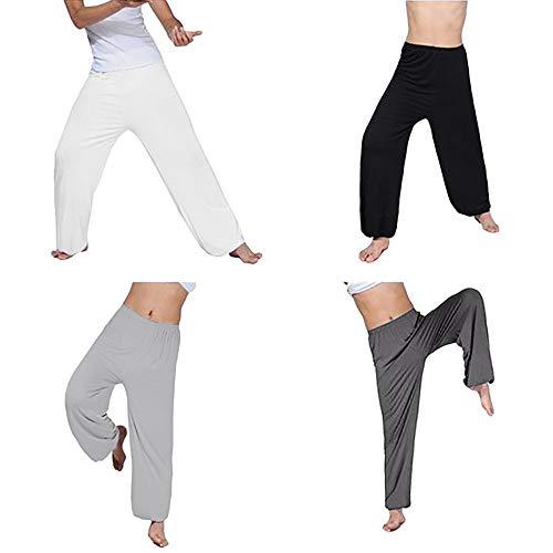 Zarupeng Herren Casual Lose Jogginghose Straight Fitness Hose Haremshose Aladinhose Einfarbig Tanzen Yoga Hose…