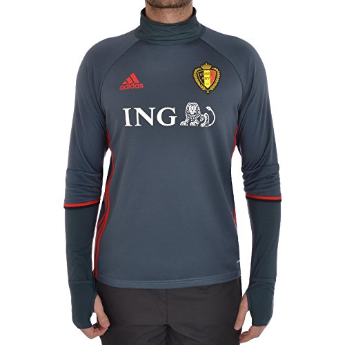 adidas Mens Gents Football Soccer Belgium Training Long Sleeve Shirt Top Dk  Grey - 2XL c12269b6b