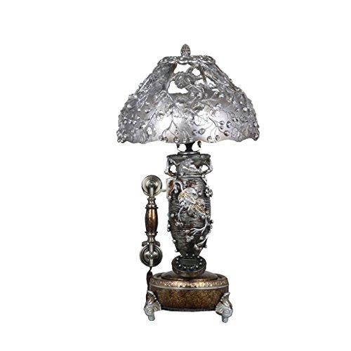 Facaig resina telephone-retro pvc ombra lampada da tavolo argento fare antica famiglia telefono di rete fissa benvenuti