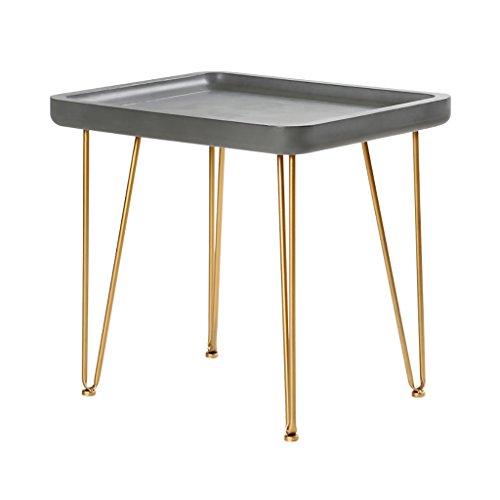 Preisvergleich Produktbild Lzz Nordic minimalistischen Sofa Rand Nachahmung Zement Balkon Tisch Wohnzimmer Eisen mobile Mini Couchtisch lässig einfache einfache Tabelle Beistelltisch Größe: 40 * 50 * 47 cm