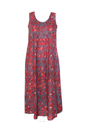 vanua-femme-robe-longue-viscose-imprime-catena-corail