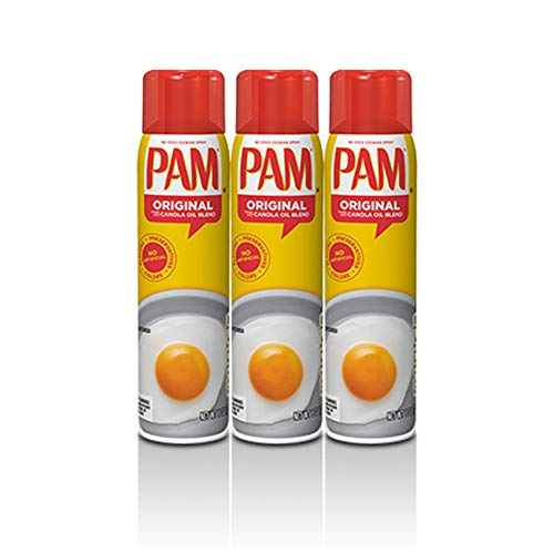 PAM® USA Original Canola Oil No-Stick Cooking Spray 3 x 170g (3-Pack)