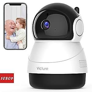 victure 1080p fhd wlan ip kamera berwachungskamera mit nachtsicht bewegungserkennung zwei. Black Bedroom Furniture Sets. Home Design Ideas