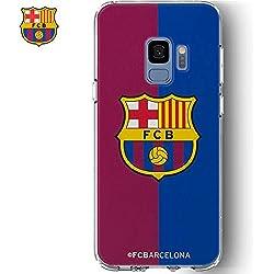F.C Barcelona BRCT026 Escudo - Funda TPU Transparente Color Samsung Galaxy S8