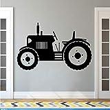 hllhpc Traktor Wandtattoo Große Reifen Farmer Fahrzeug Wandaufkleber Kinder Kinder Kleinkind Wand Poster Wohnkultur Farm Wandbilder 92 * 57 cm