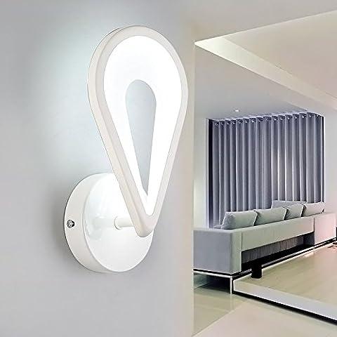 QWER Chambres applique murale lampe de chevet Mini Light LED lampe murale d'allée, couloirs modernes Appliques Heart-Shaped