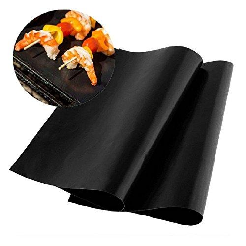 BBQ Tapis Grill (Set of 2) 100% Safe Non-Stick BBQ Tapis Grill Approbation LFGB et FDA, Facile à nettoyer et réutilisable pour gril à charbon de bois, Grill électronique, Four, Four à vapeur, Micro-ondes En silicone avec revêtement antiadhésif Teflon Jusqu'à 300 ° C XingYu-XY