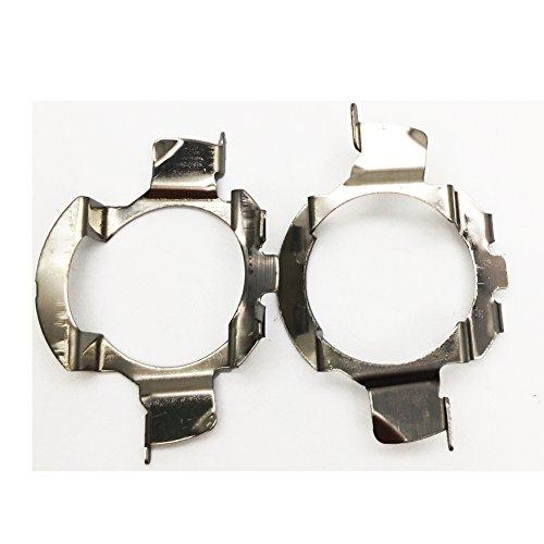 2PCS Metall H7Xenon Lampe Sockel Adapter Halter Conversion Kit Gehäuse Halterung