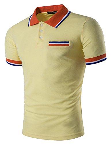 save off 331ee 501ca Boom Fashion Herren Poloshirt Beiläufig Kurzarm Stehkragen M ...