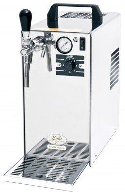 PYGMY 30/K Profi - Bierzapfanlage / Trockenkühler mit Membranpumpe und integriertem Druckminderer, 1-leitig, 35 L/h, Edelstahlgehäuse