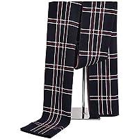Bufanda para hombre Reversible Elegante Clásico Cálido Cashmere Feel Bufandas suaves para otoño invierno Bufandas a cuadros (Color : Negro-Onesize)