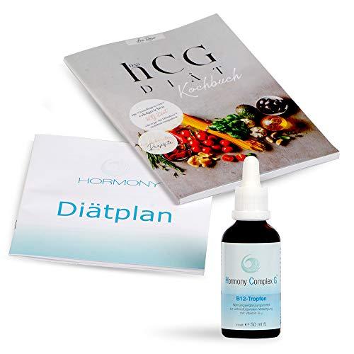 Hormony Complex G B-12 Tropfen, 50ml / Die hCG Diät - das Original. Hormonfreie HCG Diät erhalten sie im Set mit der Premium Stoffwechselkur und Diätplan von Hormony und dem Lea Rose HCG Kochbuch.