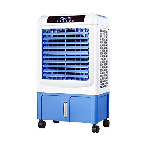 Ventola del Climatizzatore Radiatore Evaporativo del Grado Commerciale Ventilatore dell\'Aria Ventilatore Capannone Industriale di Fabbrica del Magazzino 120W Bianco + Blu 50x35x89cm