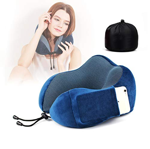 AZUOYI Orthopädisches Reisekissen Hochwertigem Memory Schaum Nackenkissen Ergonomisches Optimalen Komfort Durch Beste Memory Foam Technologie -