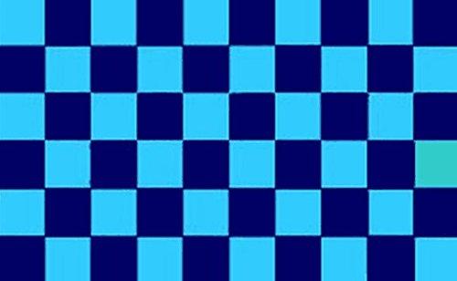 Kariert Navy Sky Blue Flagge 5ft x 3ft groß–100% Polyester–Metall Ösen–doppelt genäht (Finish Blue Sky)