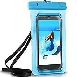 ONEFLOW Wasserdichte Hülle für Motorola & Lenovo | Full Cover in Blau 360° Unterwasser-Gehäuse Touch Schutzhülle Water-Proof Handy-Hülle für Moto Razr C Plus K6 C2 UVM Case Handy-Schutz