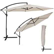 tectake m sombrilla parasol de metal para terraza jardn proteccin solar