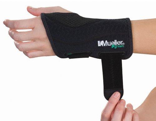 Mueller Green Line Handgelenkbandage, schwarz, links, S/M -