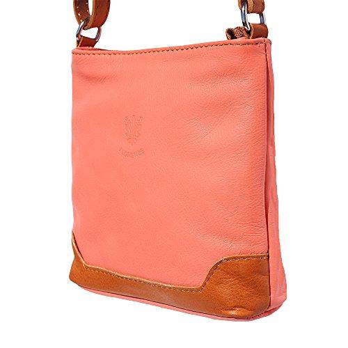 klein Schulter und Crossbody-Tasche 8685 Koralle-bräune