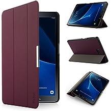 iHarbort® Samsung Galaxy Tab A 10.1 Funda - ultra delgado ligero Funda de piel de cuerpo entero para Samsung Galaxy Tab A 10.1 pulgada (2016 Version SM-T580N SM-T585N) con la función del sueño / despierta (Galaxy Tab A 10.1, púrpura)
