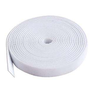 AJETEX 25-Yard Beidseitig Klettband , 20mm breit Schwarz (Weiß - 5yard)