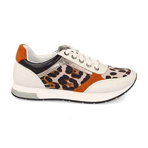 Deportivo de Mujer Sneaker Casual con Leopardo. Otono-Invierno 2019. Talla 36 Leopardo