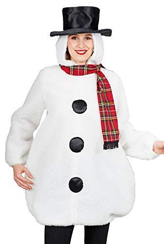 Andrea Moden Schneemann Kostüm für Damen - Gr. 44 - Schneemann Tunika Kostüm Für Erwachsene