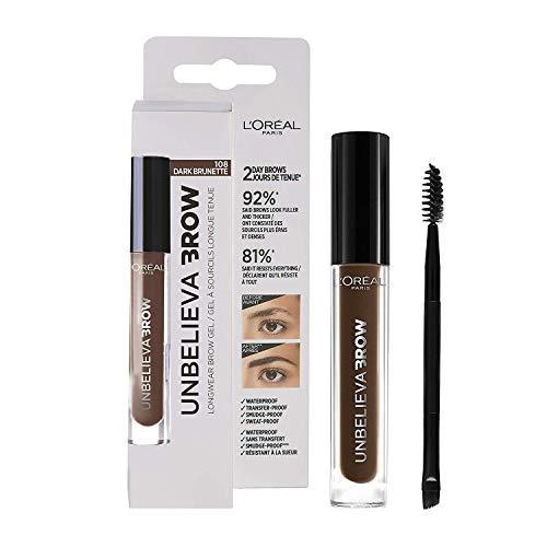L\'Oréal Paris UnbelievaBrow Nr. 108 in Dark Brunette Augenbrauen-Gel, für definierte, dichte und natürlich aussehende Augenbrauen, langanhaltend, 3,4 ml