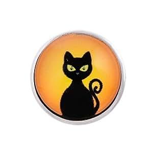 Andante bouton pression CHUNK (chat noir) pour bracelets Chunk, bagues Chunk et d'autres accessoires Chunk