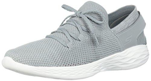 22be7f90 Skechers You-Spirit, Zapatillas sin Cordones para Mujer, Gris (Grey/White