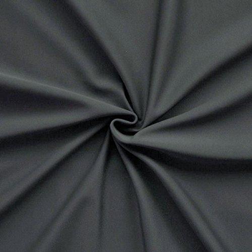 STOFFKONTOR Bi-Stretch Slinky Radler Jersey Stoff Meterware Dunkel-Grau - Grau Slinky