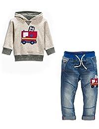 IHRKleid® Zwei Stück Classic Kinder Kapuzen-Sweatshirt + Jeans 2017 Frühling Kids Hooded Sweat