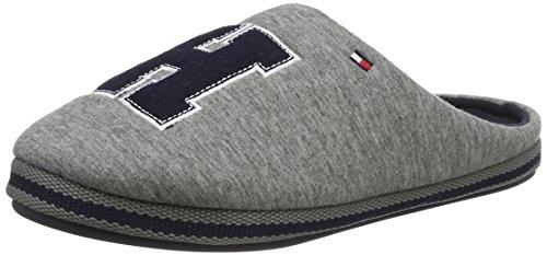 Tommy HilfigerC2285ORNWALL 1D - Pantofole con imbottitura leggera  Uomo , Grigio (Grau (Grey 030)), 43/44
