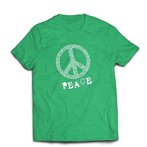 hirt FRIEDENSsymbol - 1960er Jahre 1970er Jahre Hippie Hippie, Street-Kleidung, Friedenszeichen, Sommer Festival Hipster Swag (Small Heidekrautgrün Mehrfarben) (70er Jahre Kostüme Für Paare)